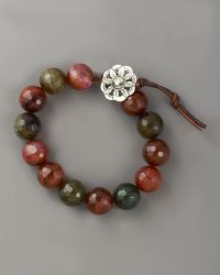 Love Heals - Faceted Fire Agate Bracelet - Lyst