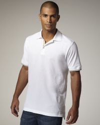 Robert Graham Embroidered Polo, White - Lyst
