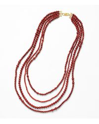 Tory Burch - 4 Strand Beaded Stone Necklace - Lyst