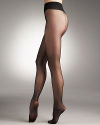 Wolford Individual 10 Back Seam Tights black - Lyst