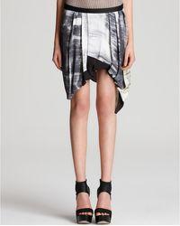 Helmut Lang Skirt Printed with Asymmetric Hem - Lyst