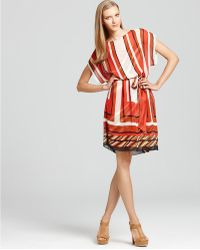 Max & Cleo - Scarf Print Belted Tunic Dress - Lyst