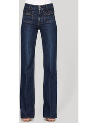Stella McCartney Super Wide Leg Denim Jeans - Lyst