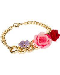 ASOS - Asos Flower Charm Id Bracelet - Lyst