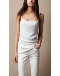 Burberry - Stretch Cotton Vest - Lyst