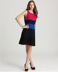 DKNY C Color Block Pleated Dress - Lyst