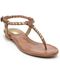 Frye Sandals Madison Braided Flat - Lyst