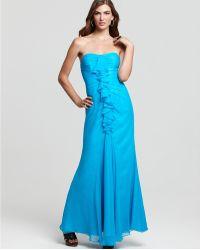 Jill Stuart Dress Gown Ruffle Strapless Gown - Lyst