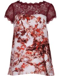 Ted Baker Digital Floralbloom Print Blouse - Lyst