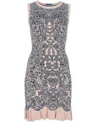 Alexander McQueen Floral Dress floral - Lyst