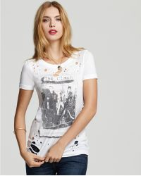 Ash - Chaser Tee The Clash White Riot Destroyed - Lyst