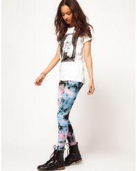 ASOS Collection Asos Legging in Layered Tie Dye Print - Lyst