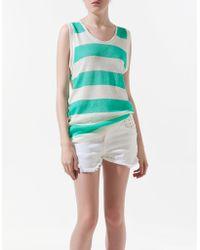 Zara Striped Vest Top - Lyst