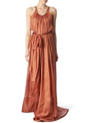 Rick Owens Silk Maxi Dress - Lyst
