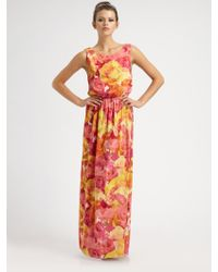 Alice + Olivia Becky Silk Maxi Dress - Lyst