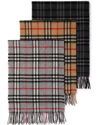 Burberry - Burberry Icon Cashmere Check Muffler - Lyst
