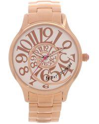 Betsey Johnson Women'S Rose Gold-Tone Stainless Steel Bracelet 38Mm Bj00040-14 - Lyst