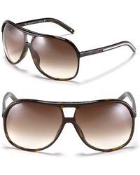 Dior Homme Black Aviator Sunglasses - Lyst