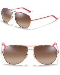 Dior Fuchsia Gold Frame Aviator Sunglasses - Lyst