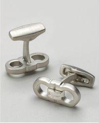 Ferragamo Mens Classic Double Gancini Cuff Links - Lyst