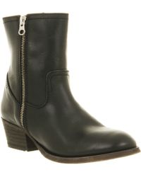 H by Hudson Riley Zip Ankle Boot - Lyst