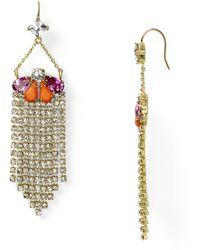 Juicy Couture Fringe Earrings - Lyst