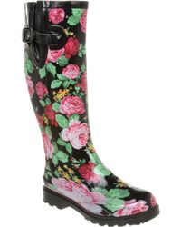 Office Nutty Knee Welly Floral - Lyst