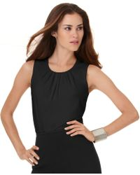 Calvin Klein Sleeveless Suiting Top - Lyst