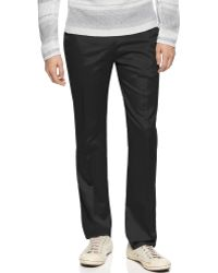 Calvin Klein Slim Fit Refined Twill Pants - Lyst