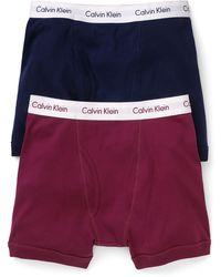 Calvin Klein Basic Relaunch Boxer Briefs 2 Pack - Lyst