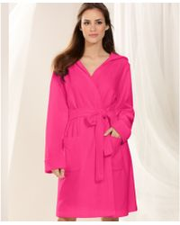 Lauren by Ralph Lauren Hooded Short Robe - Lyst