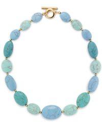 Lauren by Ralph Lauren Reconstituted Turquoise Necklace - Lyst