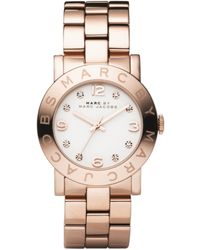 Marc By Marc Jacobs Amy Rose Gold-plated Watch pink - Lyst