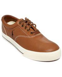 Polo Ralph Lauren Vaughn Leather Sneakers - Lyst