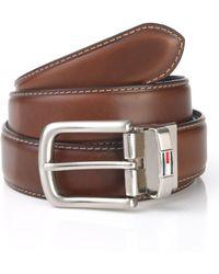 Tommy Hilfiger Reversible Leather Dress Belt - Lyst