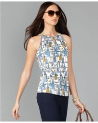 Tommy Hilfiger Sleeveless Printed Tank Top - Lyst