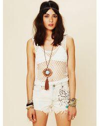 Free People Golden Hippie Studded Cutoff Shorts - Lyst