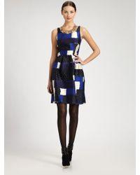 Oscar de la Renta Printed Dress - Lyst