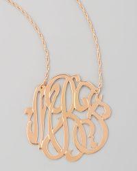 Jennifer Zeuner Rose Gold Initial Necklace - Lyst