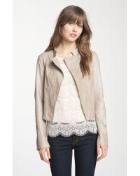 Trouvé Crop Leather Jacket - Lyst