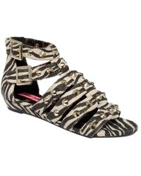 Betsey Johnson Aero Flat Sandals - Lyst