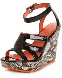 Calvin Klein Jenna Platform Wedge Sandals - Lyst