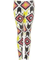 Topshop Aztec Sequin Leggings - Lyst