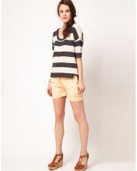 American Vintage - American Vintage Woven Bemuda Shorts - Lyst