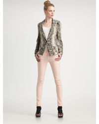 Elizabeth And James Snakeprint Christopher Blazer - Lyst