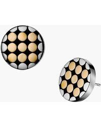 John Hardy Dot Gold Silver Small Round Stud Earrings - Lyst