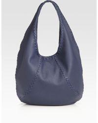 Bottega Veneta Cervo Large Leather Hobo Bag - Lyst
