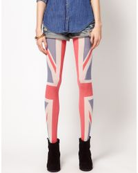 House of Holland - House Of Holland For Pretty Polly Union Jack Tights - Lyst