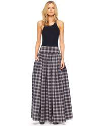 Michael Kors Taos Plaid Taffeta Maxi Skirt - Lyst