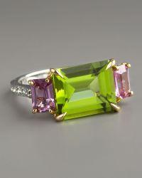 Paolo Costagli - Peridot & Pink Sapphire Ring - Lyst